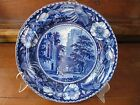 Antique Flow Blue Plate, Staff. England, Clews, Select Scenery, Fountains Abbey