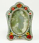 20th Century Vintage Italian Miniature Micro Mosaic Easel Back Picture Frame