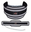 Neoprene Weight Lifting Dip Belt Exercise Belt Fitness Body Building Belt Grey