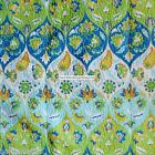 Moroccan FLORAL Souzanni 3pc KING QUILT Green Yellow Orange AQUA Cynthia Rolwey