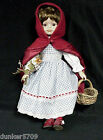 16 INCHES TALL LITTLE RED RIDING HOOD PORCELAIN AND CLOTH DOLL
