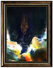 Leonardo NIERMAN Authentic Large ORIGINAL Oil Painting on Board Signed Abstract