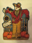 Eustheelf Cotton Fabric Panel  Scarecrow Row Wall Hanging 23