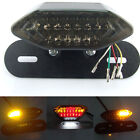 12V Smoke 20LED Motorcycle Tail Turn Signal Brake License Plate Integrated Light