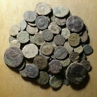 Lot of 100 uncleaned Roman Bronze Coins #02