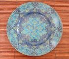 222 Fifth Eva Opulent Blue Round salad plates Set Of 5