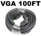 100FT 100FT 15 PIN SVGA SUPER VGA Monitor M/M Male To Male Cable Cord For PC TV
