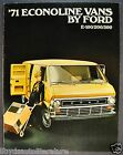 1971 Ford Econoline Van Trucks Catalog Brochure E-100 E-200 E-300 SuperVan 71