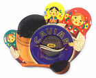 1pc Fridge Magnet Black Caviar Russian Matryoshka Nesting Nested Doll Matrioshka