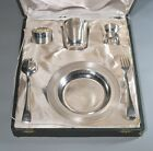 1930's French Silver Plate Christofle Christening Baptismal Baby Junior Set