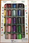 Exquisite Poly x40 Popular Basic Embroidery Thread Set 1100 yd New 25 Spools