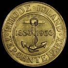 1936 Rhode Island Tercentenary / Landing of Roger Williams Medal - Gilt 32mm