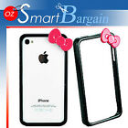 Black Hell0 Kitty Bumper Case Cover for iPhone 4 S 4S + 2 in 1 screen protector