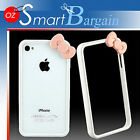 White Hell0 Kitty Bumper Case Cover for iPhone 4 S 4S + 2 in 1 screen protector