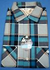 1950s PLAID FLANNEL ROCKABILLY SHIRT HOT ROD CAR CLUB NOS DEADSTOCK FIFTIES