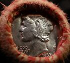 BU Silver Mercury Dime Old Penny Collector Roll of Lincoln Wheat