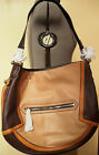 NWT ORYANY Angelique Colorblock Leather Hobo bag, Nude/Multi /Brown $348