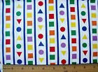 New Hoffman California Circle Square Triangle Stripe Print Cotton Fabric BTY