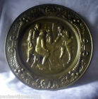 Vintage Embossed Brass Wall Plate Tavern Scene 14