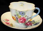 SHELLEY DAINTY GERMAN ROSE SPRAYS TEA CUP AND SAUCER