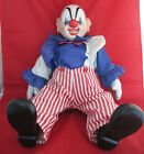 Vintage Musical Clown Doll Send in the Clowns Sirks Porcelain Coth Large 21