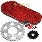 Red O Ring Drive Chain  Sprockets Kit Fits HONDA CBR600F4i 2001 2006
