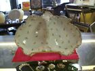 Floral Leaf Ornate Divided Antique Serving Dish With Center Handle
