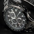 New CURREN Fashion Mens Steel Analog Black Dial Sport Quartz Wrist Watch