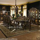 DINING ROOM FINE Formal TABLE Luxury 11 Pc Set China Cabinet Luxury Dinette New