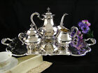 Reed and Barton Regent 5600 Silverplate Tea Set/Service w/Butlers Tray VGC