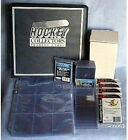 Hockey Card Collectors Storage Kit Collecting Supplies Protectors NHL Blk