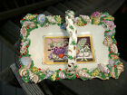 Gorgeous Antique Italy Capodimonte Porcelain Seashells Basket As Is