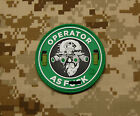 3D PVC Operator As F**k OAF Nation MARSOC Raiders USMC Morale Patch Velcro