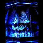 Butterflies 3D Laser Etched Crystal