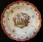 Rare Antique 18th c. Meissen Porcelain Scene Scenic Serving Bowl  -  Platter