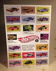 Vintage Mattel 1967 Redline HOT WHEELS Display Posters TWO With ORIGINAL AD ART