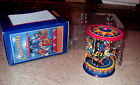 Schylling Collector Series Pull & Spin Mechanical Fair Toy Horse Carousel W/ Box