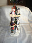 VINTAGE BRINN'S LIGHTED MUSICAL DICKEN'S FAMILY CAROLERS HAND CRAFTED PAINTED