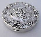 Floral Rose Compact Gorham 325 Sterling Silver 1950