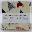 RED WHITE & FREE~MODA FABRIC~CHARM PACK~42-5