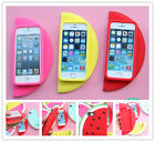 New watermelon silicone mobile phone case cover for iphone 5/5S ROSE RED