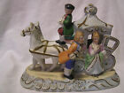 Occupied Japan (Horse Drawn Carriage With Driver And Courting Couple) Figurine