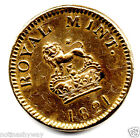 1821 Sovereign Weight Gold Lustre Old Georgian Royal Mint Lion Crown Coin Medal
