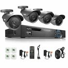 SANNCE 8CH 960H DVR HDMI 42IR Outdoor 800TVL Camera CCTV Security Camera System