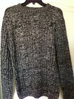 $250 NWT Daniele Blasi Acrylic Wool Crewneck Sweater Black Combo Size M Medium