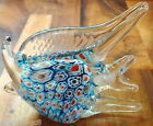 Millefiore Hand Blown Art Glass Fish Made in Italy