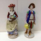 Vintage Occupied Japan Porcelain Victorian Era Man and Woman Figurines 7