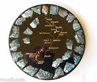 Vintage  NEW ZEALAND MOTHER OF PEARL  PLATE PLATTER TIKI BAR ABALONE  MAP