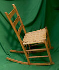 LATE 1800s MULE EAR LADDER BACK  SEWING ROCKING CHAIR