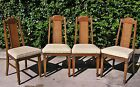 Set of 4 Vintage French Provincial Cane Back Dining Side Chairs
